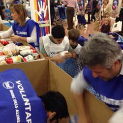 Volontaires pendants la collecte