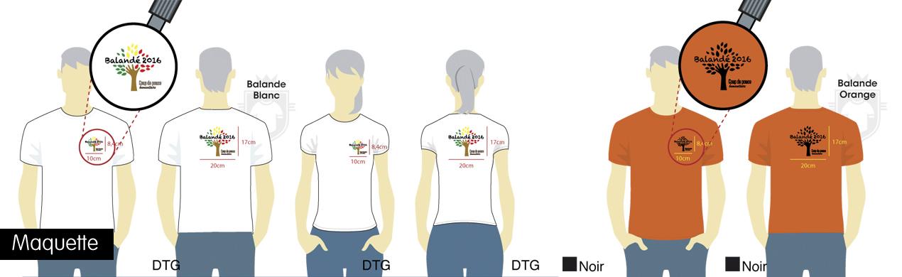 Maquettes pour impression DTG et sérigraphie