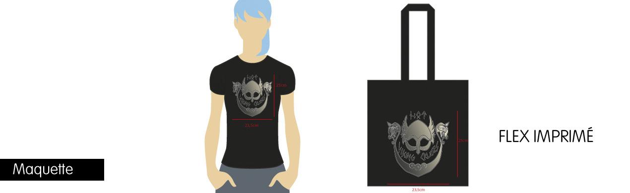 Maquette virtuelle de t-shirts et tote bags
